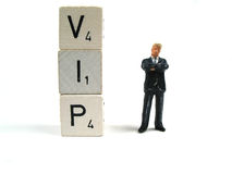 Very important person. A very important person next to the word VIP Royalty Free Stock Image