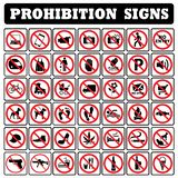 Very important Prohibition sign collection royalty free illustration