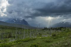 Glacier National Park and Montana`s Rocky Mountains Stock Images