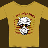 Very Infectious t-shirt design template Stock Photo