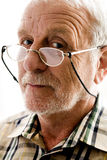 Very interested older man Royalty Free Stock Photography