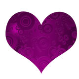 Very interestin purple heart with different shapes Stock Image