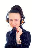 A very kind telephone operator Stock Images