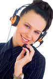 A very kind telephone operator Royalty Free Stock Image