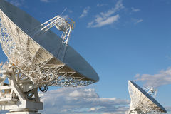Very Large Array. Radio telescope facility, Australia. With room for copy Stock Image