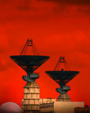 Very Large Array. For an outer-space communication royalty free stock photos