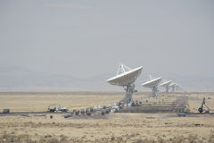 Very Large Array. Several of the 27 independent antennas pointed skyward at the Very Large Array (VLA) National Radio Astronomy observatory near Socorro, New stock photography