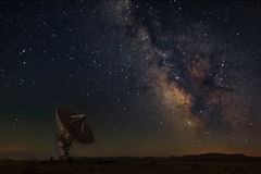 Very Large Array with Milky Way at New Mexico royalty free stock images