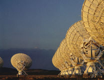 Very Large Array radio telescope dishes Stock Photos