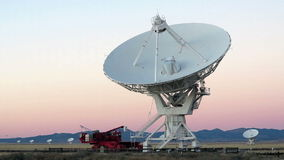 Very Large Array Radio Telescope stock footage
