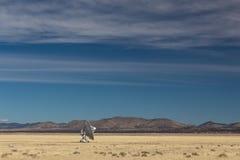 Very Large Array radiowej astronomii samotny naczynie samotnie w pustyni, nauki technologii przestrzeń obraz stock