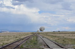 Very Large Array satellite dishes, USA Stock Photography