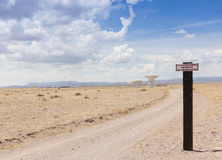 A Very Large Array Scene in New Mexico Royalty Free Stock Photography