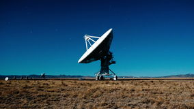 Very Large Array Space Radio Dish VLA Observatories - Time Lapse - 4k. Time Lapse of the Very Large Array in New Mexico stock footage