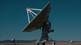Very Large Array Space Radio Dish VLA Observatories - Time Lapse - 4k stock footage