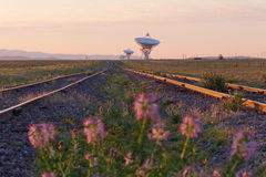 Very Large Array at Sunrise Stock Photos