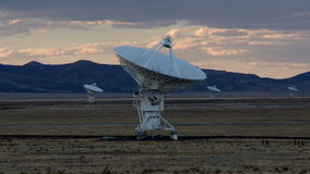 Very Large Array - Time Lapse stock footage