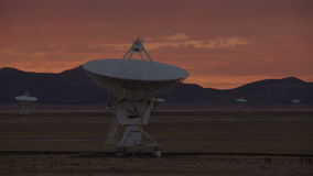 Very Large Array - Time Lapse. Time Lapse of the Very Large Array in New Mexico, Shot with a professional camera stock video