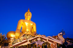 Very Large Buddha Statue. In Twilight time Thailand Royalty Free Stock Image