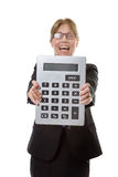 Very large calculator Stock Photos