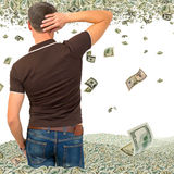 A very large income. Stock Images