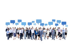 Very Large Multi-Ethnic Business Group. Very large multi-ethnic group of people royalty free stock photos