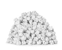 A very large pile of crumpled paper ball Royalty Free Stock Photos