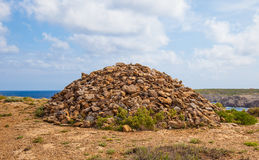 Very Large Rock stack in menorca Royalty Free Stock Images