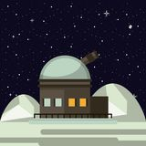 Very large telescope. On moon vector illustration graphic design stock illustration