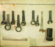 Very large wrenches Royalty Free Stock Photography