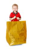 Very little boy holds Royalty Free Stock Photo