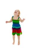 Very little cheerful girl jumping Royalty Free Stock Images