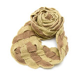 Very long plaited scarf Royalty Free Stock Photo