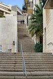 Very long staircase. Jerusalem residential district Stock Image