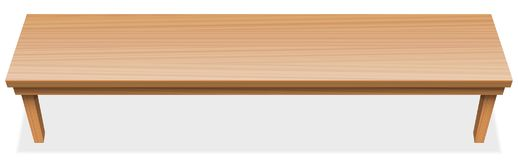 Very Long Table Tabletop Wooden Surface Royalty Free Stock Photo