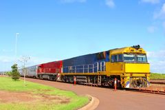 Colorful train nature landscape Australian Outback, Australia Stock Images