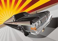 Very long vintage limo. Cartoon illustration vintage limousine Royalty Free Stock Image