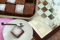 Very Low-fat Brownies. Stock Images