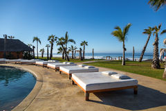 Very luxury hotel standards in a sunny day in Todos Santos, Baja California, Mexico. Stock Photography