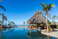 Very luxury hotel standards in a sunny day in Todos Santos, Baja California, Mexico. Royalty Free Stock Photography