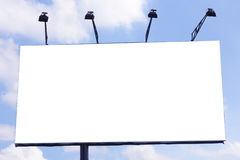 Very majestic towering billboard in the sky Royalty Free Stock Photos