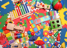 Very many toys. Very many kids toys background Stock Photography