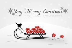 Very Merry Christmas card Royalty Free Stock Photography