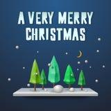 Very Merry Christmas greeting card Stock Photos