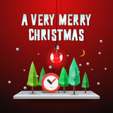 Very Merry Christmas greeting card Royalty Free Stock Photography