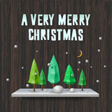 Very Merry Christmas greeting card Royalty Free Stock Photo
