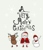 A Very Merry Christmas. Illustration of A Very Merry Christmas Stock Images