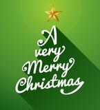 A very Merry Christmas tree composition. stock photos