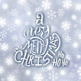 Very Merry Christmas typography. Greeting card Stock Photo