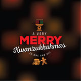 A very merry Kwanzukkahmas design Stock Photo